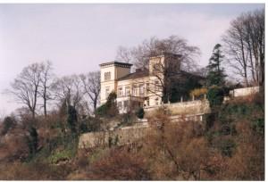 Die Villa Vogelsang von der Ruhr aus